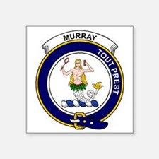 """Murray (of Dysart) Clan Bad Square Sticker 3"""" x 3"""""""