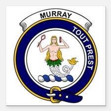 """Murray (of Dysart) Clan  Square Car Magnet 3"""" x 3"""""""
