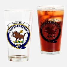 Pollock Clan Badge Drinking Glass