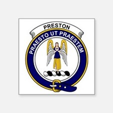 "Preston Clan Badge Square Sticker 3"" x 3"""