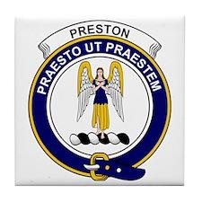 Preston Clan Badge Tile Coaster
