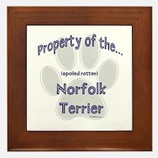 Norfolk Terrier Property Framed Tile