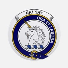 Ramsay Clan Badge Round Ornament