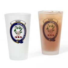 Ross Clan Badge Drinking Glass
