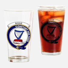 Rose Clan Badge Drinking Glass