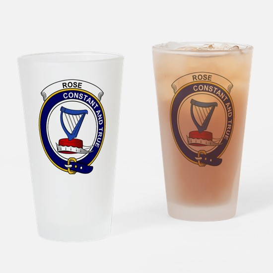 Rose Clan Badge Drinking Glass