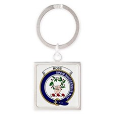 Ross Clan Badge Square Keychain
