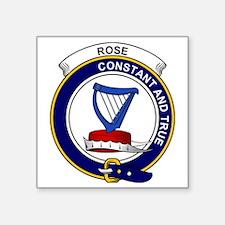 "Rose Clan Badge Square Sticker 3"" x 3"""