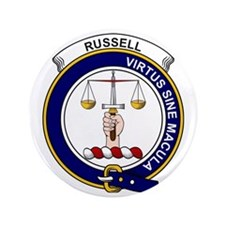 """Russell Clan Badge 3.5"""" Button"""