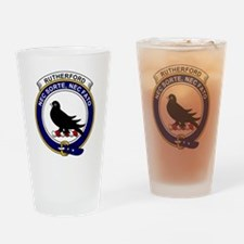 Rutherford Clan Badge Drinking Glass