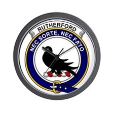 Rutherford Clan Badge Wall Clock