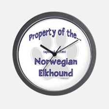 Elkhound Property Wall Clock