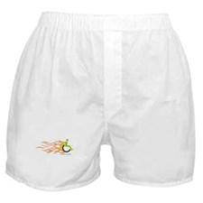 Wheelchair Flames for Him Boxer Shorts