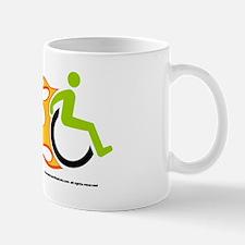 Wheelchair Flames for Him Mug