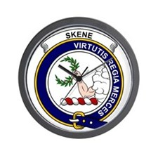 Skene Clan Badge Wall Clock