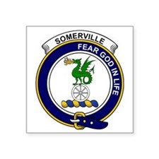 """Somerville Clan Badge Square Sticker 3"""" x 3"""""""