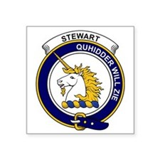 "Stewart (of Appin) Clan Bad Square Sticker 3"" x 3"""