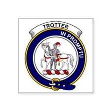 "Trotter Clan Badge Square Sticker 3"" x 3"""