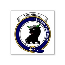 "Turnbull Clan Badge Square Sticker 3"" x 3"""