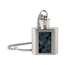 victoriansliderblue Flask Necklace