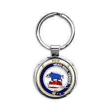 Weir Clan Badge Round Keychain
