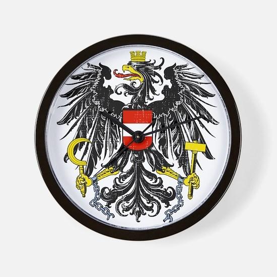 2000px-Austria_Bundesadler Wall Clock