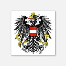 "2000px-Austria_Bundesadler Square Sticker 3"" x 3"""