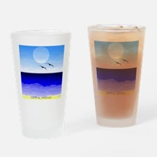 SHORE SKYBIRDS MOON SQ GD Drinking Glass