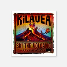 "KILAUEA_VOLCANO Square Sticker 3"" x 3"""