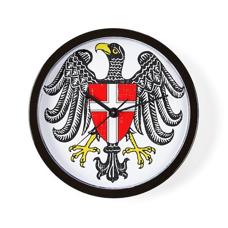 2000px-Wien_3_Wappen Wall Clock