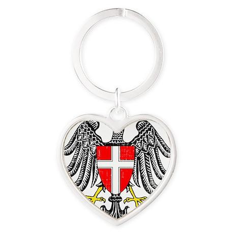 2000px-Wien_3_Wappen Heart Keychain