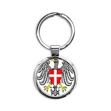 2000px-Wien_3_Wappen Round Keychain