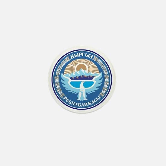 Emblem of Kyrgyzstan Mini Button
