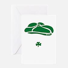 IRISH Till The Day I Die (white/gree Greeting Card