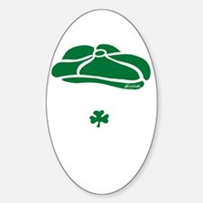 IRISH Till The Day I Die (white/gre Sticker (Oval)