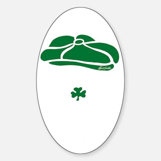 IRISH Till The Day I Die (white/gre Sticker (Oval)