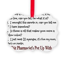 Shit Pharmacists Hear Ornament