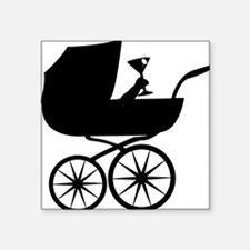 """Baby Buggy Square Sticker 3"""" x 3"""""""