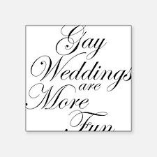 "Gay Wedding Square Sticker 3"" x 3"""