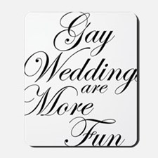 Gay Wedding Mousepad