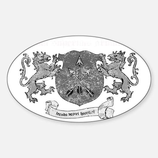 peace via superior firepower - ligh Sticker (Oval)