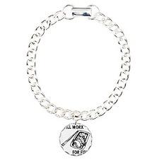 WillWorkForFish Charm Bracelet, One Charm