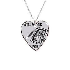 WillWorkForFish Necklace Heart Charm
