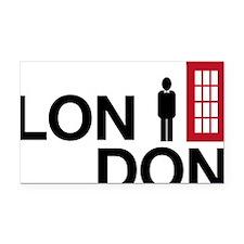 London Rectangle Car Magnet