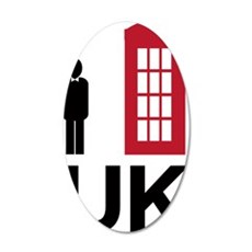 UK 35x21 Oval Wall Decal