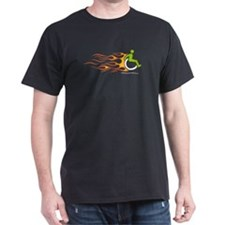 Wheelchair Flames for Him T-Shirt