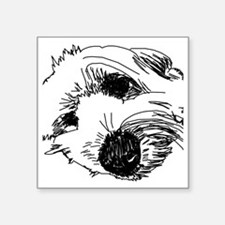 "SleepyBeardie Square Sticker 3"" x 3"""