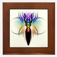 Chakra Goddess - transparent Framed Tile