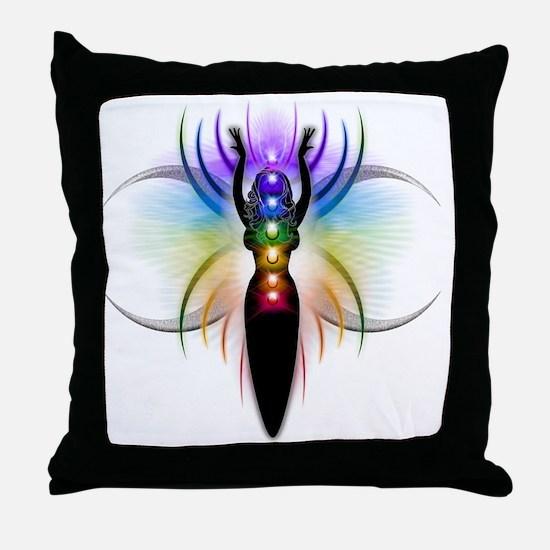 Chakra Goddess - transparent Throw Pillow