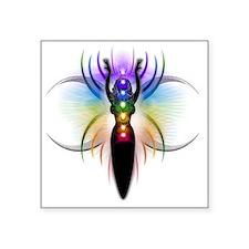 """Chakra Goddess - transparen Square Sticker 3"""" x 3"""""""